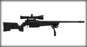 Sig Sauer SSG 3000 Patrol Rifle RSSGH24B308P, 308 Winchester/7.62 NATO, 23.5 in, Bolt-Action, Comp Stock, Black Oxide Finish, 5 Rds