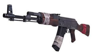 ATI AK47 Tribute Rebel Rifle G2224AK47R, 22 Long Rifle, 16.5 in, Semi Auto, Wood Stock, Black Matte Finish, 24+1 Rds