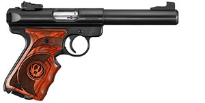 Ruger MKIII512TG Target Pistol 10159, 22 Long Rifle, 5.5 in, Syn Grip, Blued Finish, 10+1 Rd