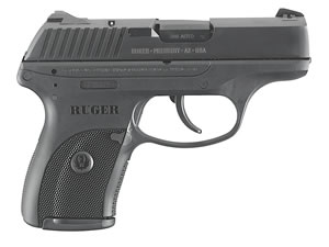 Ruger LC380 Pistol 3219, 380 ACP, 3.12 in, Checkered Black Grip, Blued Finish, 7+1 Rd