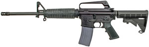 Olympic Arms PPC Compact Rifle, 223 Rem/5.56 NATO, 16 in, Semi-Auto, Black 6-Pos Collapsible Stock, Black Finish, 30+1 Rds