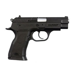 SAR B6PC Pistol 400424, 9mm, 3.8 in, Black Polymer Grip, Black Finish, 13+1 Rd