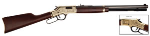 Henry Big Boy American Oilman Tribute Rifle H006OM, 44 Rem Mag, 20 in BBL, Lever Act, Walnut Stock, Blued Finish, 10 Rds