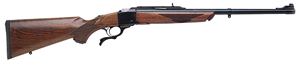 "Ruger No. 1S Medium Sporter Rifle 1371, 9.3x62mm, 22"" BBL, Falling Block Action, American Walnut Stock, Blued Finish, 1 Rd"