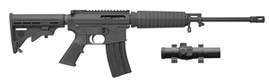"Bushmaster Carbon 15 Superlight ORC Rifle w/ Red Dot 91037, 223 Rem/5.56 NATO, 16"" Contour BBL, Semi Auto, 6-Pos Stock Assembly, Black Finish, 30 + 1 Rd"