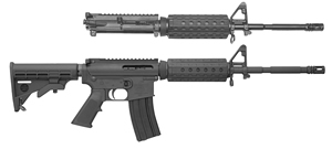 "Bushmaster Carbon 15 CM-15 Combo Rifle 91042, 5.56 Nato/.22 LR, Semi Auto, 16"" BBL, 6 Pt Collapsible Stock, Black Finish, 25 + 1 Rd"
