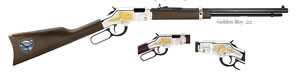 Henry Goldenboy Truckers Tribute Rifle H004TT, 22 LR, 20 in BBL, Lever Action, American Walnut Stock, 16+1 Rds