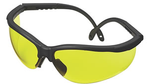 Champion Shooting Glasses w/Black Adjustable Frame/Yellow Lens 40610