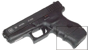 Pearce PG36 Black Grip Extension For Glock 36