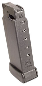 Glock MF36006 6 Round Blue Magazine For Model 36 45 ACP in Blister Pkg