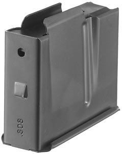 Ruger 90352 Magazine, Scout, 308 Winchester, 5 Rd, Black Oxide