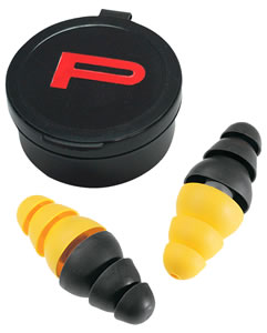 EAR 97079 Indoor/Outdoor Range Plugs, NRR 22 dB, Black/Yellow