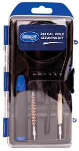 DAC Technologies GM243LR, Rifle Cleaning Kit, .243 Caliber, 14 Piece, Brass