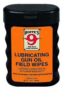 Hoppes 1631  Rust Preventing Lubricating Gun Oil Field Wipes