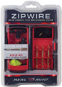 Avid AVZW101R, Zipwire Rifle Cleaning Kit & Bag, Brass