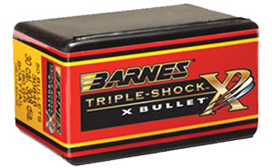 Barnes 45819 All Copper Triple-Shock X Bullet 458 Cal 450 Grain Flat Base 20/Box, (Not Loaded)