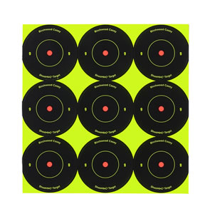 Birchwood Casey 34210 Shoot-N-C AR215 2 in Self Adhesive Round Targets 10 Pack