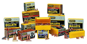 Speer Bullets 4485, Jacketed Soft Point, 45 Colt Caliber, 300 gr, 100 Per Box (Not Loaded)