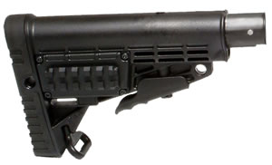 CAA Collapsable Buttstock w/Black Magazine Tube CBST