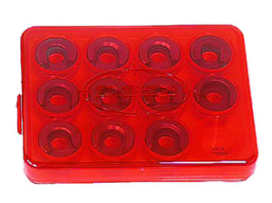 Lee Precision 90196 Red Shell Holder Box