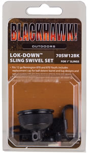 BlackHawk 1 in Blue Lock Down Swivels/Mag Cap For 870 w/External Mag Tube 70SW12BK