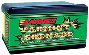 Barnes 24392 .243 Cal 62 Grain Varmint Grenade 250/Box, (Not Loaded)