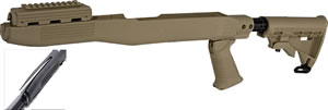 Tapco SKS T6 Flat Dark Earth Collapsible Stock/Blade Bayonet Cut STK66167F