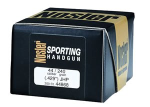 Nosler 44868 Jacketed Soft Point Handgun Bullet 44 Cal 240 Grain 250/Box, (Not Loaded)