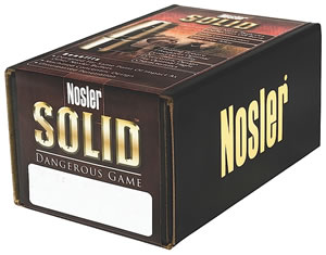 Nosler .375 Cal. 260 Grain Dangerous Game Flat Point 25/Box 29755, (Not Loaded)