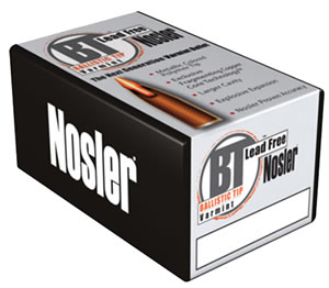 Nosler Bullets 45170, Ballistic Tip Lead Free, .243/6mm Caliber, 55 gr, 100 Per Box (Not Loaded)
