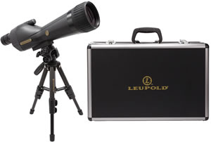 Leupold SX-1 Ventana Spotting Scope Kit 111362, 20x-60x, 80mm, Black, Case/Tripod