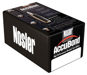 Nosler AccuBond .338 Cal. 250 Grain Spitzer 50/Box 57287, (Not Loaded)