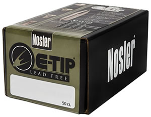 Nosler Bullets 59265, E Tip Spitzer, .323/8mm Caliber, 180 gr, 50 Per Box (Not Loaded)