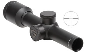 Nikon Force XR Pistol Scope 8470, 2x, 20mm Obj, 1 in Tube Dia, Matte Black, Plex Reticle