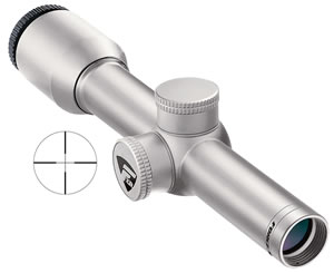 Nikon Force XR Pistol Scope 8471, 2x, 20mm Obj, 1 in Tube Dia, Silver, Plex Reticle