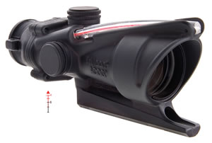 Trijicon TA31A, ACOG Scope, Triangle Reticle, 4x 32mm Objective, Black Finish, Red