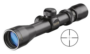 Simmons Prohunter Handgun Scope 822009, 2x-6x, 32mm Obj, 1 in Tube Dia, Matte, Truplex Reticle