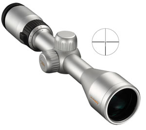 Nikon 6794 Inline XR Muzzleloader Rifle Scope, BDC 300 Reticle, 3-9x 40mm Objective, Silver Finish