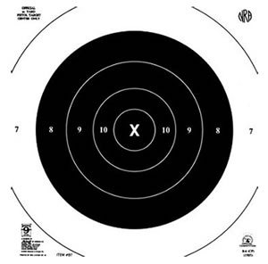 Hoppes B7T 50 Yard 10 in x10 in Target 20 Pack