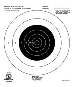 Hoppes B16T 25 Yard 10 in x12 in Slow Fire Targets 20 Pack