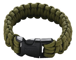 Columbia River 9300DS, Onion Survival Saw Para Cord Bracelet, Small, Green
