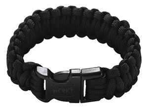 Columbia River 9300KS, Onion Survival Saw Para Cord Bracelet, Small, Black