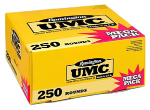 Remington UMC Handgun Ammunition Mega Pack L40SW3A, 40 S&W, Metal Case, 180 GR, 985 fps, 250 Rd/b