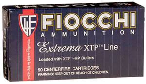 Fiocchi Extrema Handgun Ammunition 9XTPC25, 9 MM, XTP Hollow Point, 124 GR, 900 fps, 25 Rd/bx
