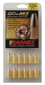 Barnes 45154 50 Caliber Black Powder Spitfire Spitzer Boat Tail 285 Grain 24/Pack