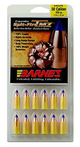 Barnes 45180 50 Caliber Black Powder Spitfire Spitzer Boat Tail w/ Polymer Tip, 250 Grain 24/Pack