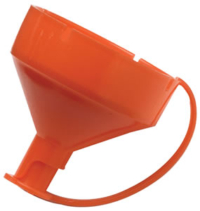 CVA AC1385 Orange Plastic Universal Powder Funnel Top Pyro Can