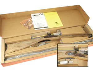 Lyman Great Plains Muzzleloader Rifle Kit 6031112, 54 Black Powder, Hardwood, Cap Lock