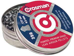 Crosman .177 Caliber Pointed Pellets/250 Pack P177