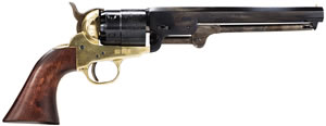 Traditions 1851 Colt Revolver FR18511, 44 Black Powder, Walnut Grips, Brass Frame/Steel Barrel, Single Action